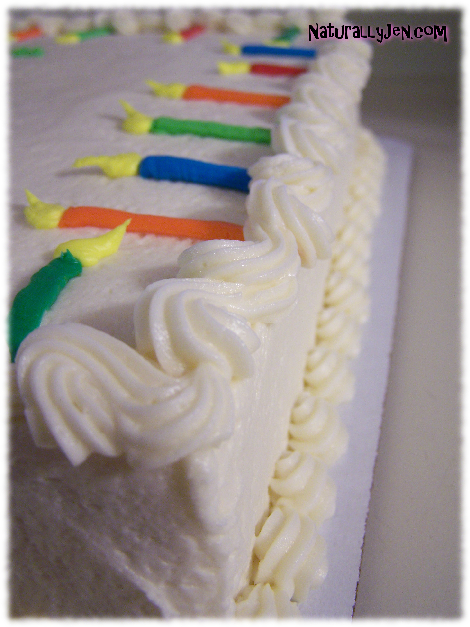 Thirtieth Birthday Cake Decorating Ideas 30 frosting candles