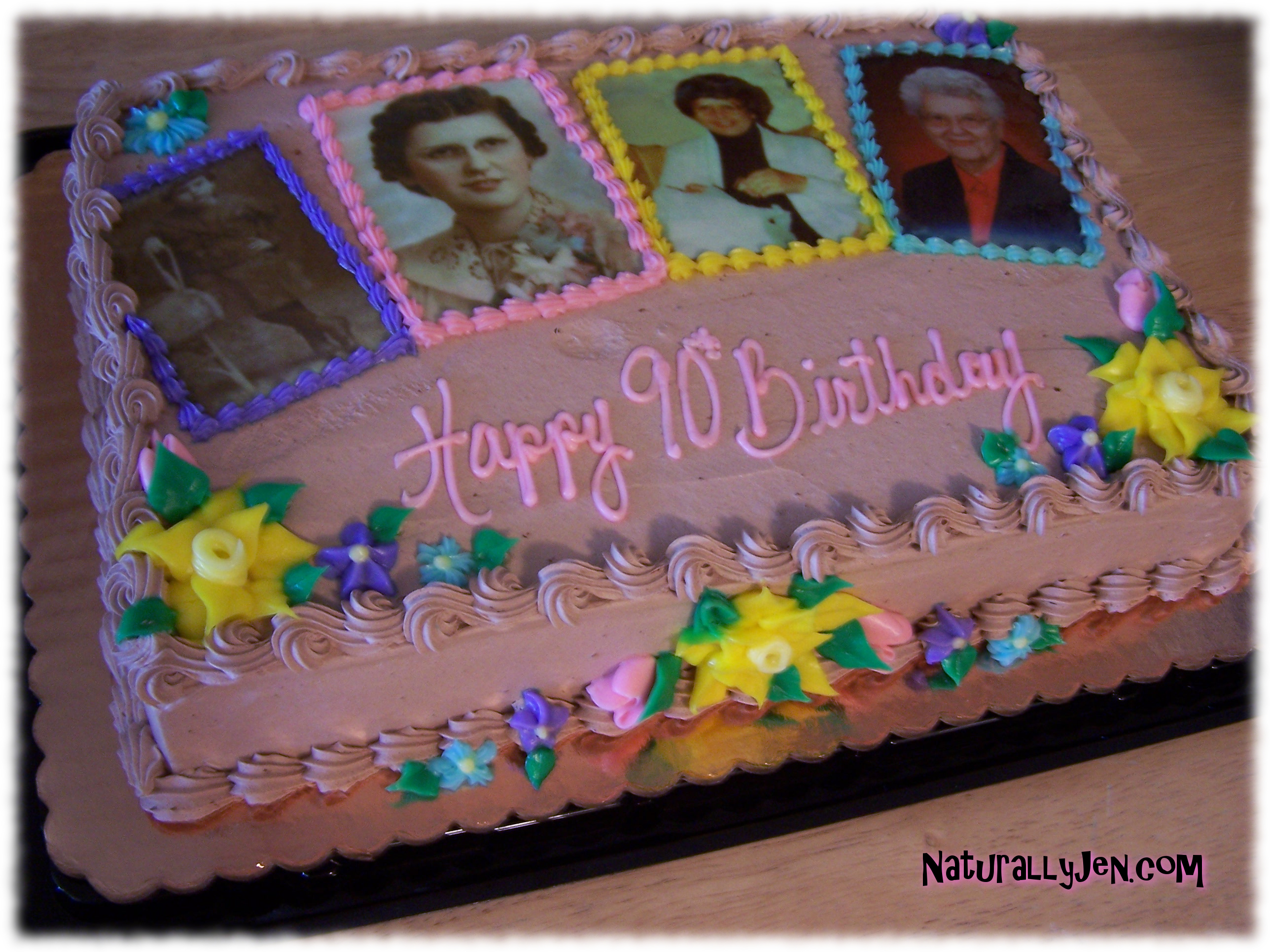 Edible Photographs Printed On Cakes by Naturally Jen