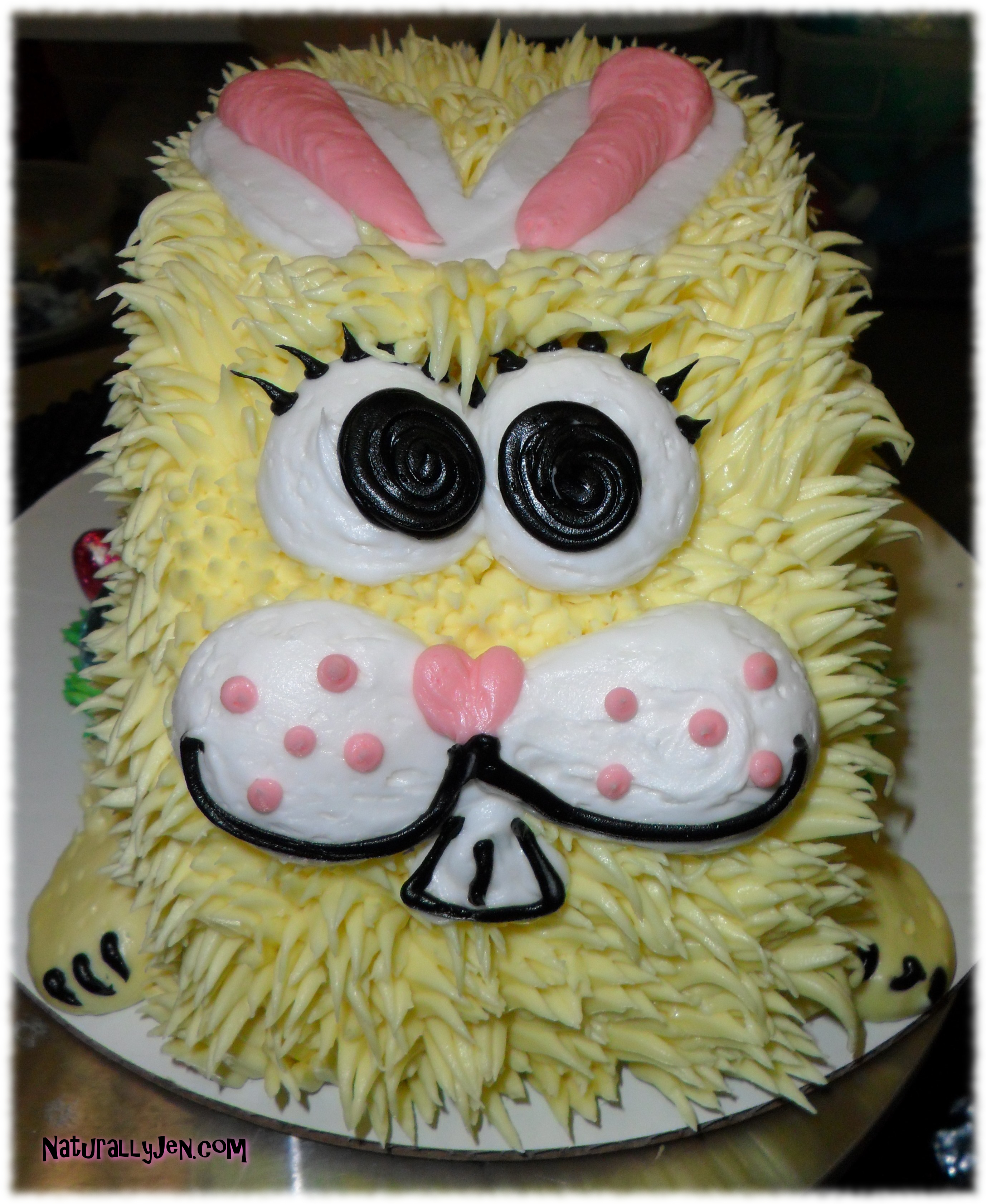 Shaped Easter Bunny Cake by Naturally Jen