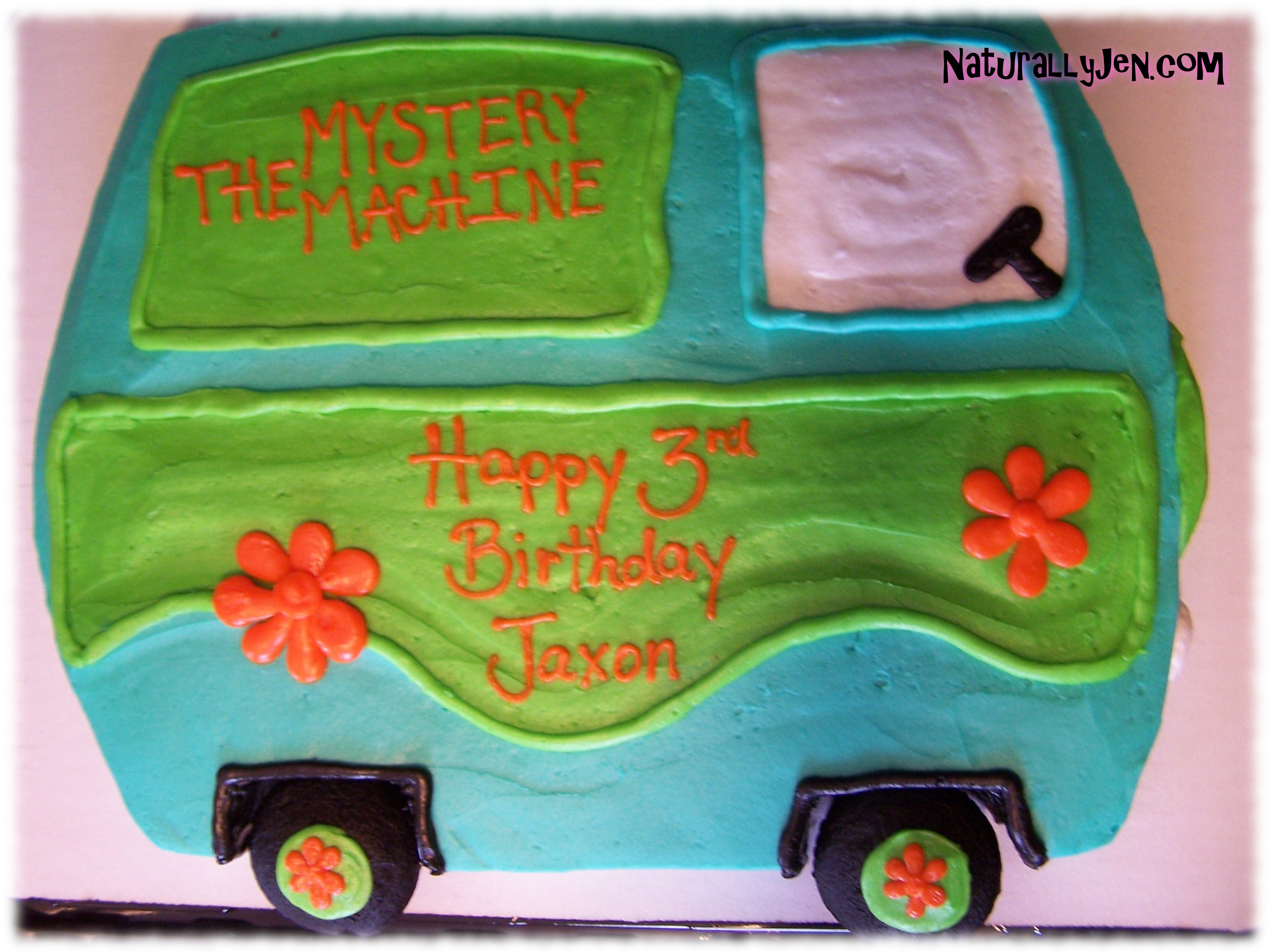 Scooby Doo The Mystery Machine Shaped Birthday Cake