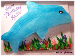 Shaped Dolphin Birthday Cake Idea