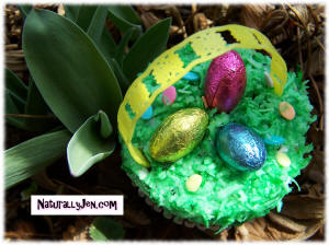 Easter Basket Cupcake Idea Holiday Designs