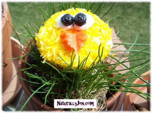 Easter Cup Cake Design Idea Yellow Easter Chick