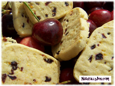 Cherry Cornmeal Cookies by Naturally Jen