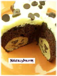 Cookie Dough Center Surprise Chocolate Cupcakes