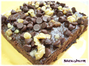 Walnut Chocolate Chip Brownies by Naturally Jen