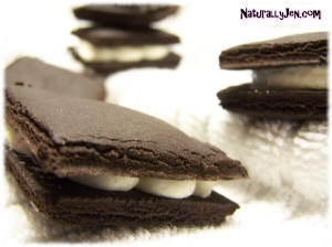 Homemade Oreos Sandwitch Cookies by Naturally Jen
