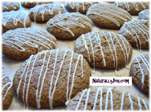 Vegan Gingersnap Cookies with Frosting Drizzle