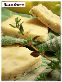 Tea Time Lemon Tyme Bars by Naturally Jen