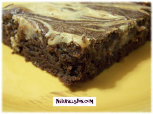 Peanutbutter Swirl Brownies by Naturally Jen