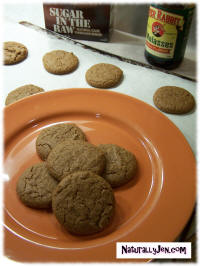 Vegan Molassis Cookies by Naturally Jen